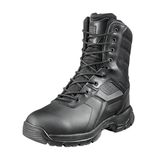 BATTLE-OPS 8-INCH WATERPROOF BLACK TACTICAL BOOT - SIDE ZIP & COMP SAFETY TOE