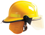 DEFENDER VISOR WITH CAIRNS 660C METRO AND INVADER 664 FIRE HELMETS
