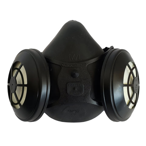 Comfort Air Half Mask Respirator with N95 Filtered Exhalation - BLACK