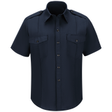 WORKRITE MEN'S CLASSIC SHORT SLEEVE FIRE CHIEF SHIRT - MIDNIGHT NAVY