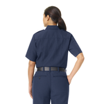 WORKRITE WOMEN'S CLASSIC SHORT SLEEVE FIRE CHIEF SHIRT - NAVY
