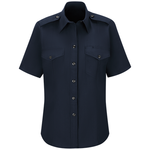 WORKRITE WOMEN'S CLASSIC SHORT SLEEVE FIRE CHIEF SHIRT - MIDNIGHT NAVY