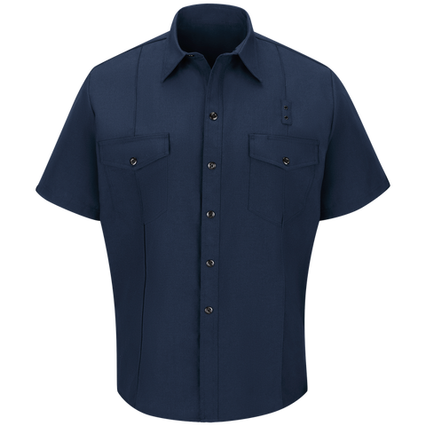 WORKRITE MEN'S CLASSIC SHORT SLEEVE FIRE CHIEF SHIRT - NAVY