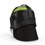 CAIRNS XF1 MODERN FIREFIGHTER HELMET - BLACK GLOSSY