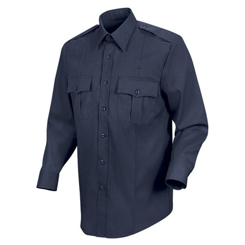 HORACE SMALL 100% COTTON BUTTON FRONT SHIRT - DARK NAVY