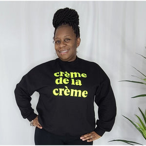 YOU ꟾ Crème de la Crème Sweatshirt - Black