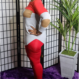 Cam ꟾ Legging Set - Grey/Red