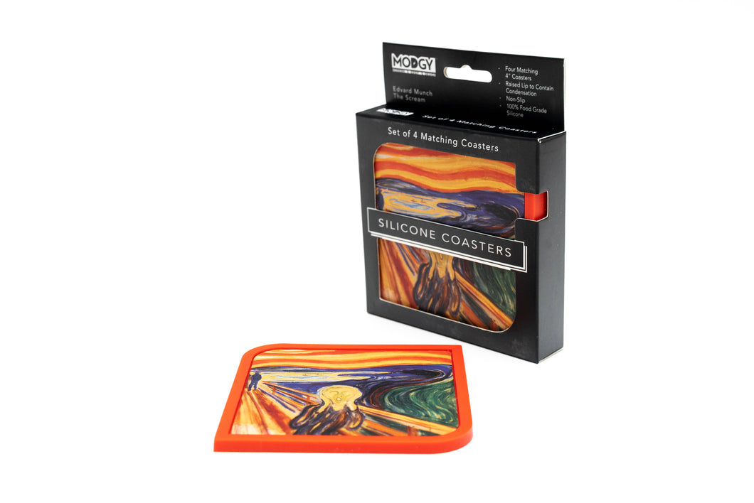 Silicone Coaster Set (4 Per Box) - The Scream