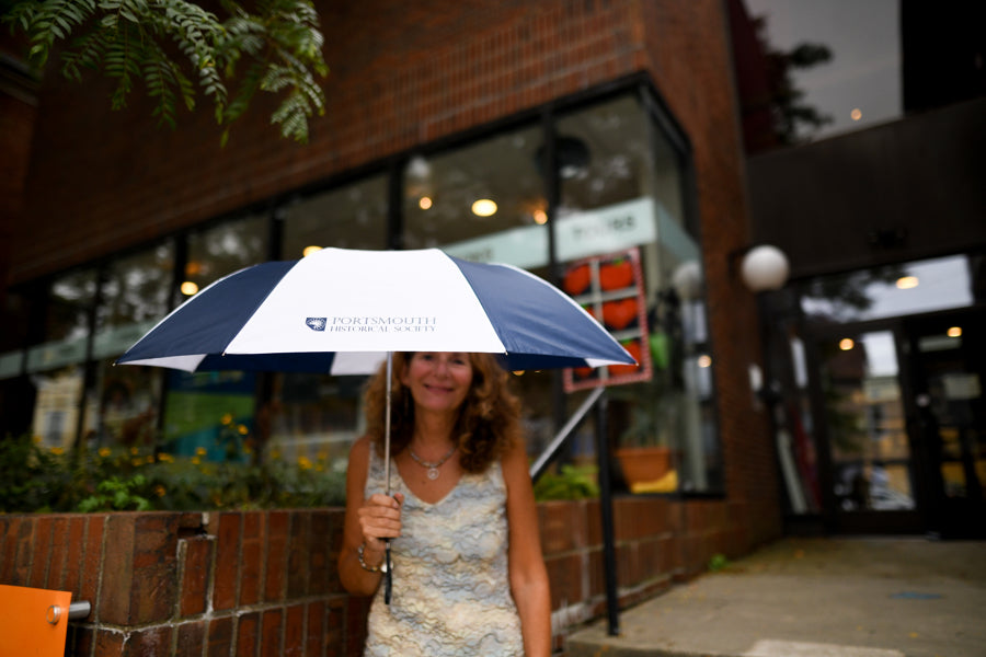 Portsmouth Historical Society custom logo umbrella
