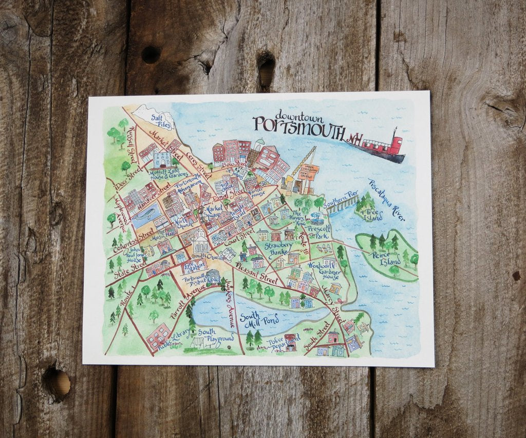 11X14 Portsmouth WC Map