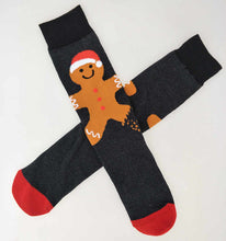 Load image into Gallery viewer, Gingerbread man sock