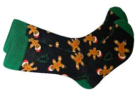 Gingerbread man sock