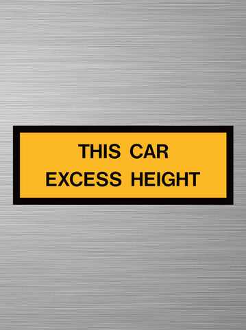 This Car Excess Height