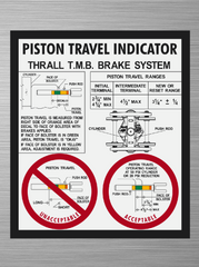 Piston Travel Decal - Thrall TMB Brake System