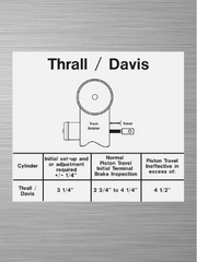 Piston Travel Decal - Thrall / Davis Diagram