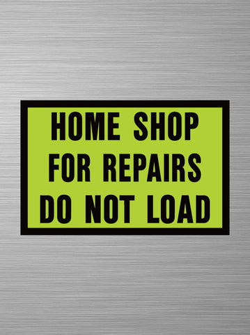 Home Shop for Repairs - Decal