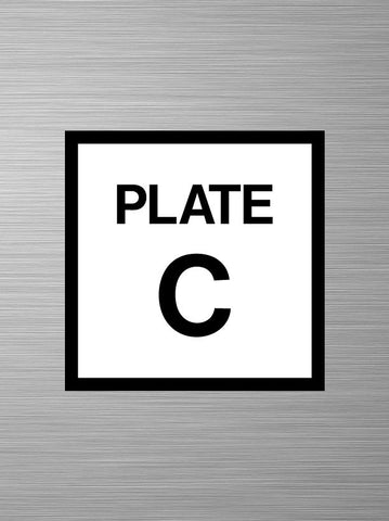 Plate C Decals