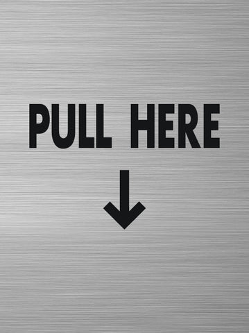 Pull Here Decal (w/arrow down)