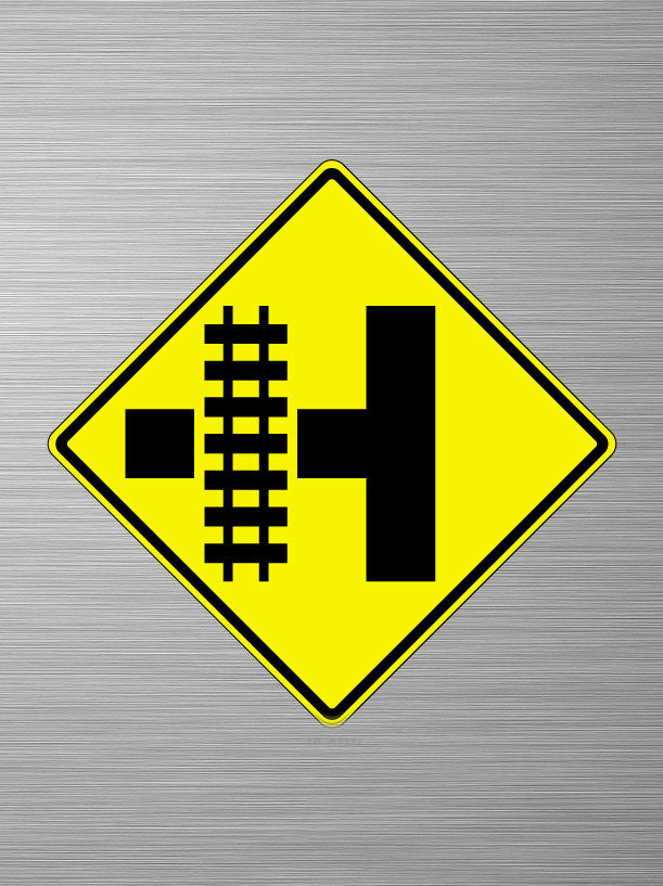Parallel Railroad Crossing (T left)