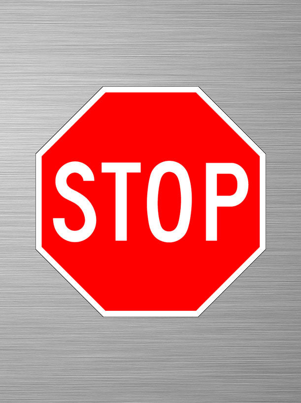 aluminum stop sign safety