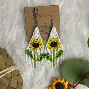 Sunflower Ga'dang Beaded Earrings