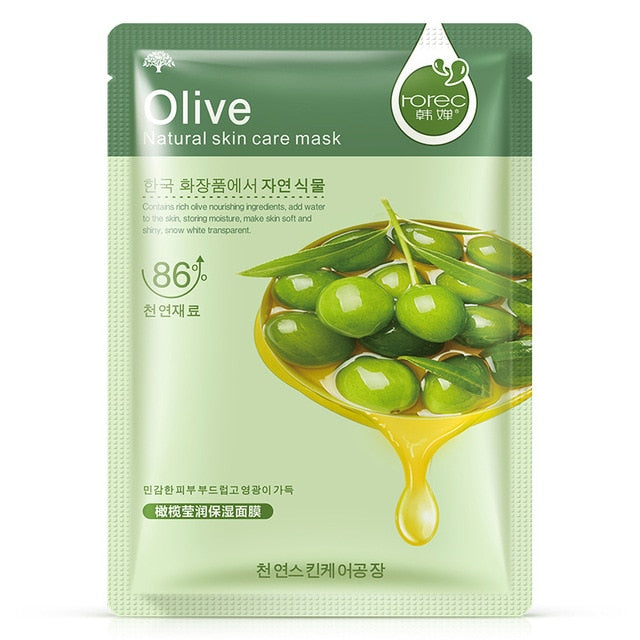 1/6pcs Set Face Sheet Mask Tissue Hyaluronic Acid Aloe Mask Alginate Collagen Mask Beauty Mask Soothing Whitening Skincare
