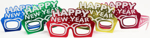 Happy New Year Eyeglasses, Assorted colors