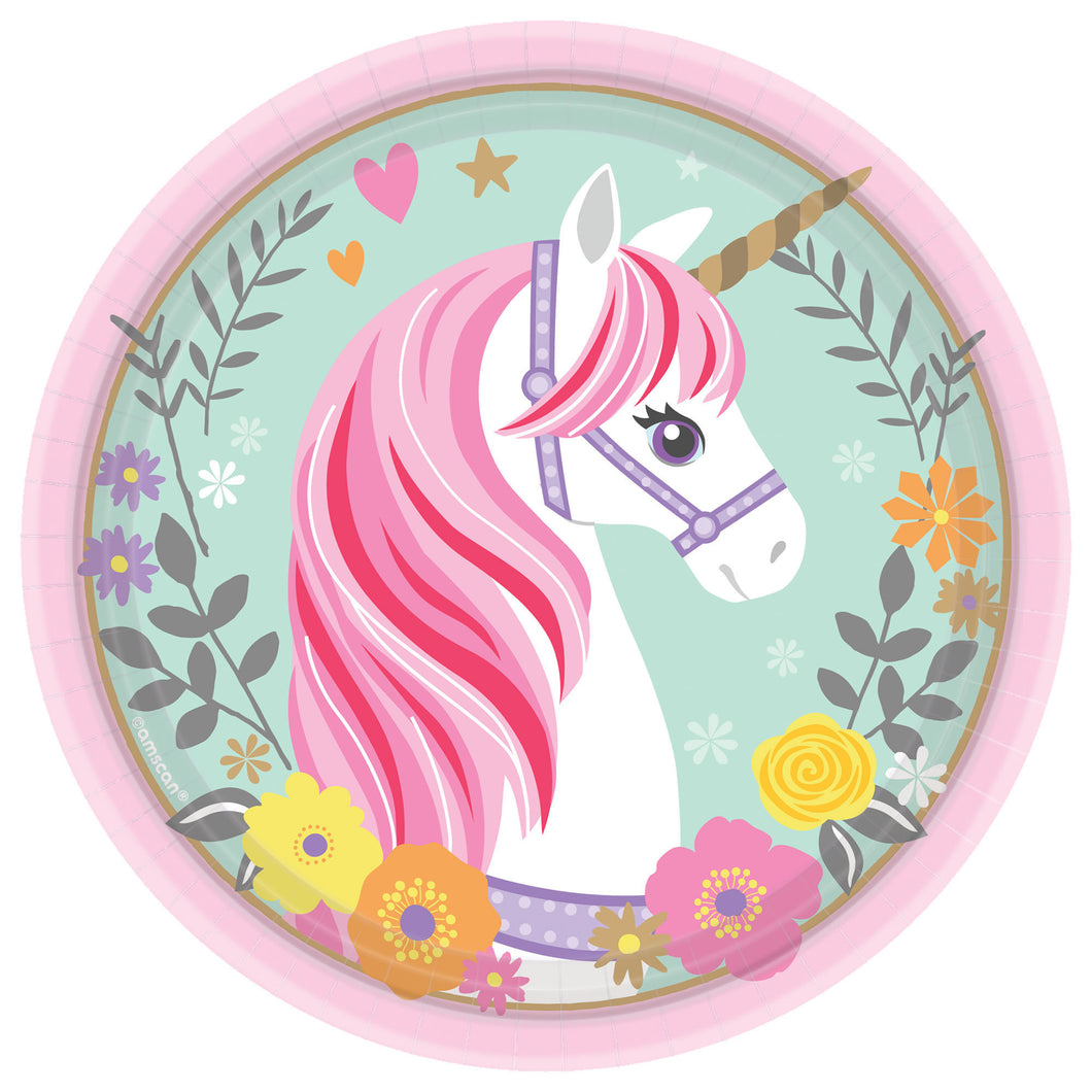 Believe in Unicorns 7in Plate