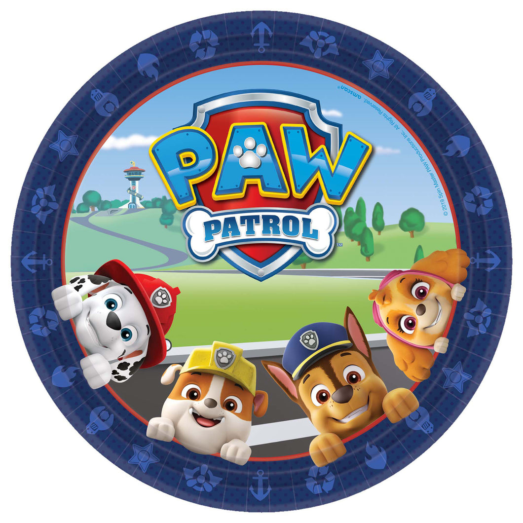 Paw Patrol 9in Paper Plate