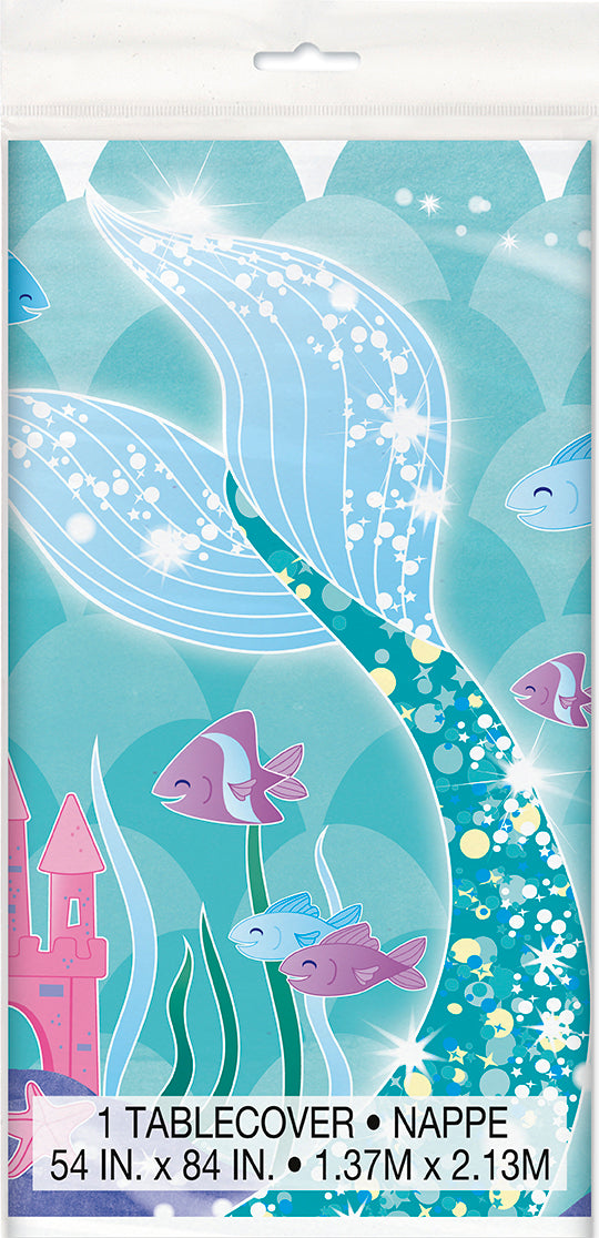 Mermaid Tablecover - 1 Each or 12 Tablecovers/Unit