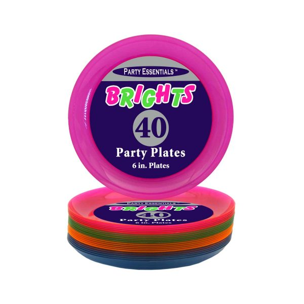 Neon Party Plates - 6