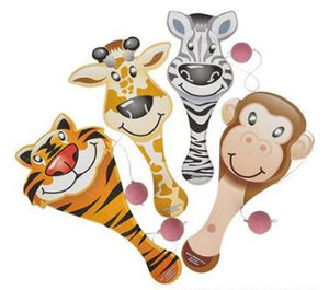 "Zoo Animal Paddle Ball, 9"" Assorted"