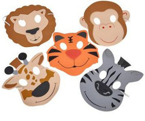 Zoo Animal Masks, Foam Assorted