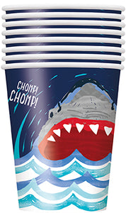 Shark 9oz Cups - 1 Pack (8 Cups) or 1 Unit (96 Cups)