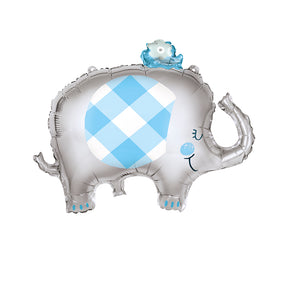 Giant Blue Elephant Foil Balloon - 1 Each or 5 Balloons/Pack