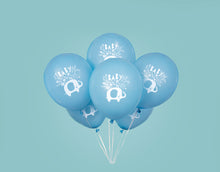 "Load image into Gallery viewer, Blue Floral Elephant 12"" Latex Balloons"