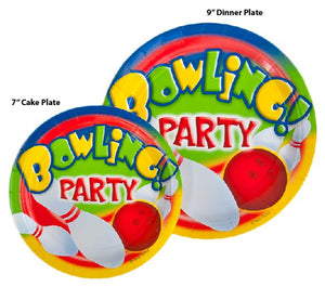 "Bowling Party 7"" Plates - 500/Case"