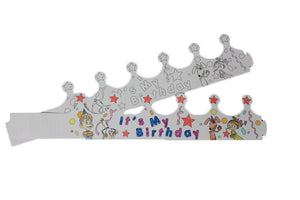 Bowlopolis Coloring Crown - Birthday Child