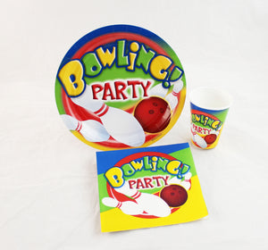 "Bowling Party 7"" Economy Kit for 250"