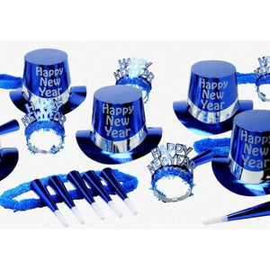 Blue Top Hat Party Kit for 50