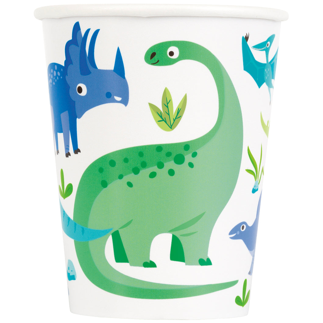 Dinosaur 9oz Cups - 1 Pack (8 Cups) or 1 Unit (96 Cups)
