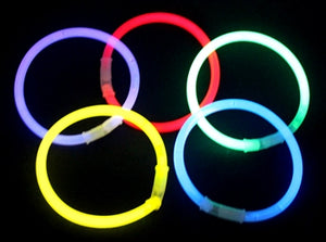 Solid Color Glow Bracelets - 100 pieces/tube