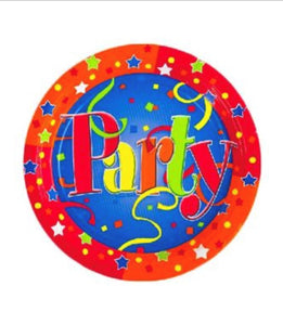 "Just Party 9"" Plates - 500/Case"
