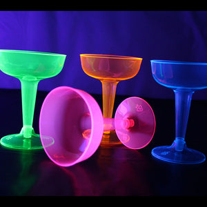 Assorted Neon Champagne Glasses