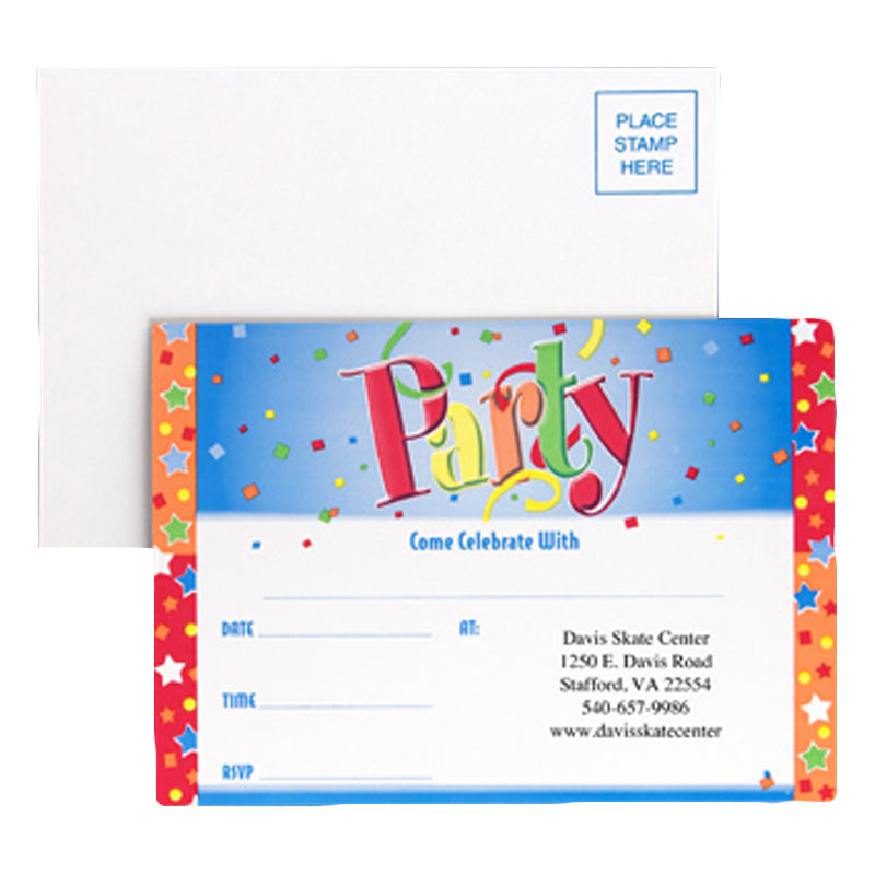Just Party Invitations with Custom Imprint