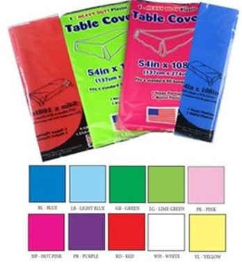 Solid Color Table Covers, Pre-Cut - 48/Case