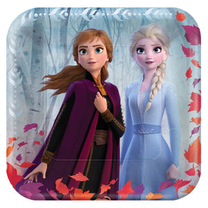 "Frozen 2 - 9"" Metallic Square Plate"