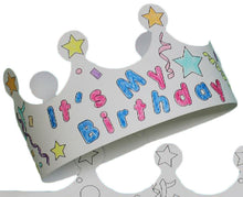 Load image into Gallery viewer, Color Me Crown - Birthday Child - 25/Pack