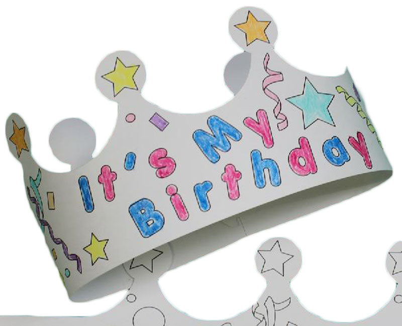Color Me Crown - Birthday Child - 25/Pack