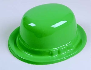 Green Plastic Derby - 12/Pack